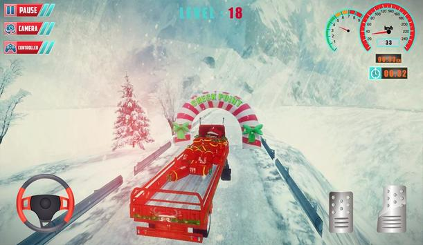 Chrismas Hill Climb Truck Driving screenshot 2