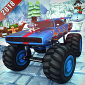 Chrismas Mountain Monster Truck Stunts icon