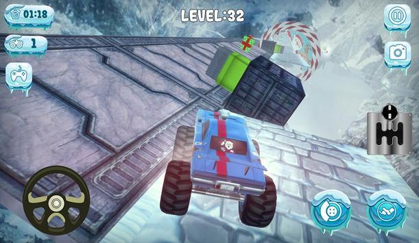 Chrismas Mountain Monster Truck Stunts screenshot 4