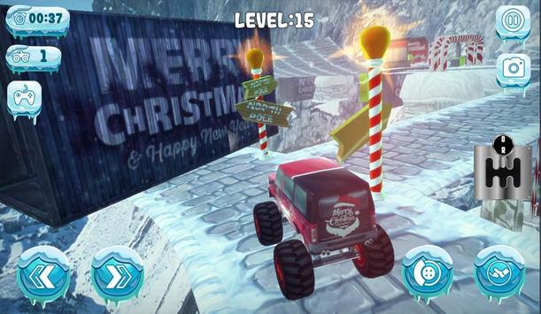 Chrismas Mountain Monster Truck Stunts screenshot 1