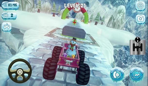 Chrismas Mountain Monster Truck Stunts screenshot 2