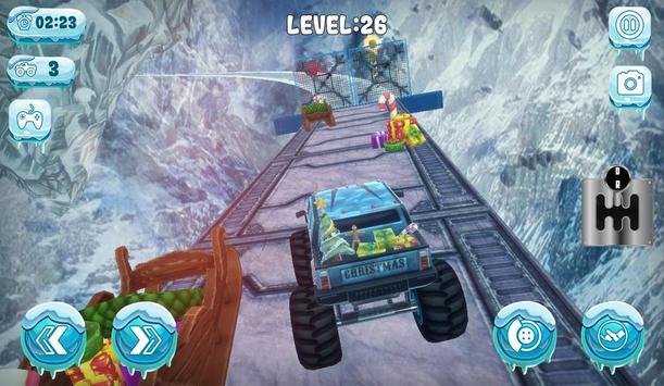 Chrismas Mountain Monster Truck Stunts screenshot 3