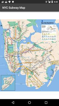 Map of NYC Subway: offline MTA poster