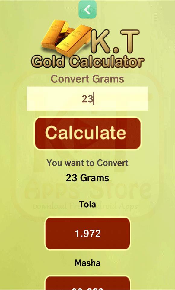 KT Gold Calculator for Android - APK Download