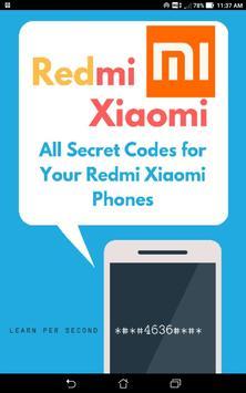 Redmi Xiaomi Mobile Secret Code poster