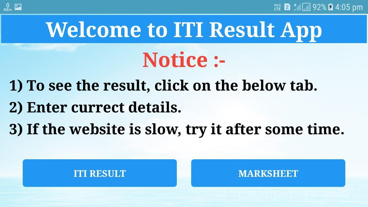 ITI Result for Android - APK Download