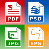 Photo & Image converter: jpg pdf eps psd png bmp.. icon