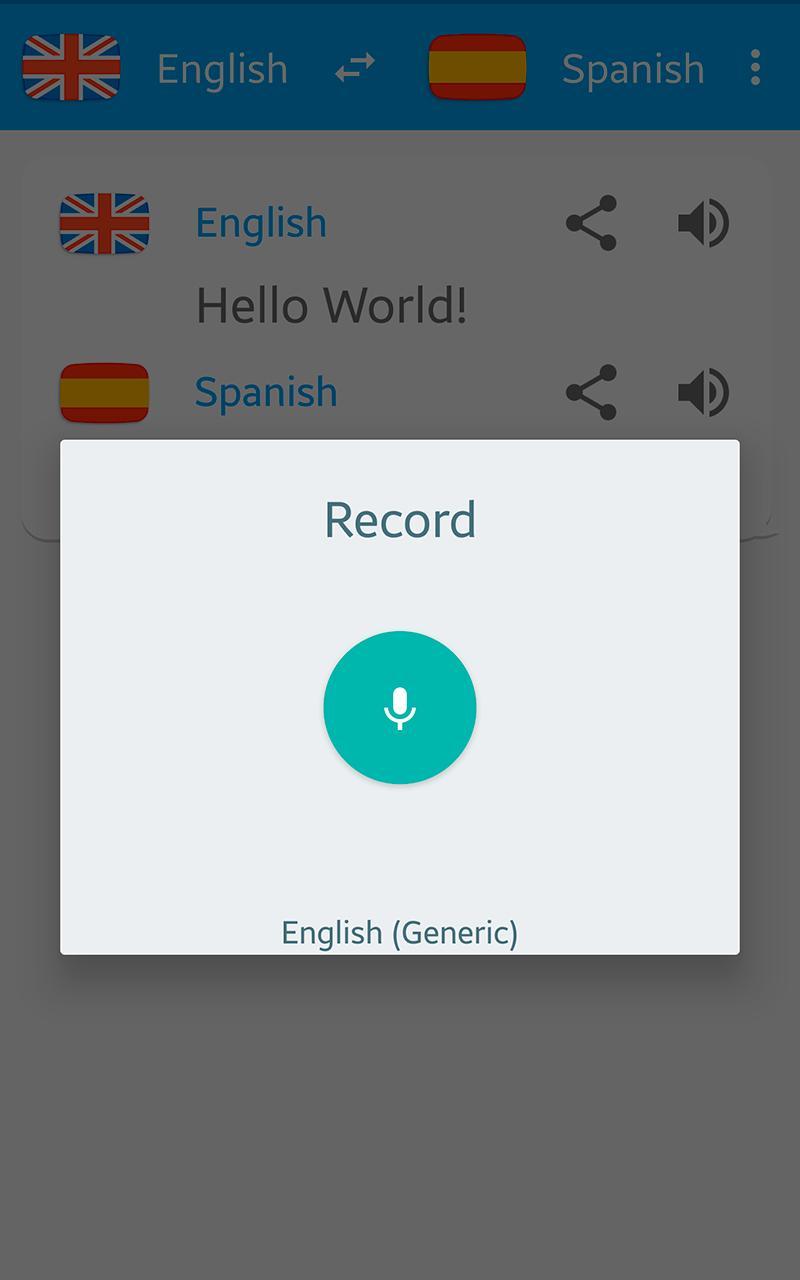 Traductor español ingles