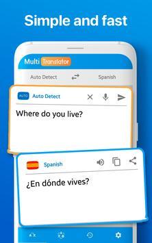 Traductor de Idiomas Múltiple Traducir Documentos captura de pantalla 1