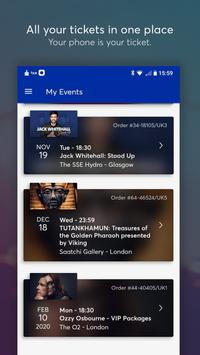 Ticketmaster UK Event Tickets captura de pantalla 1