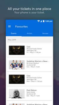 Ticketmaster NZ Event Tickets captura de pantalla 4