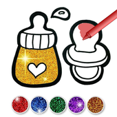 Glitter Baby Accessories Coloring icon