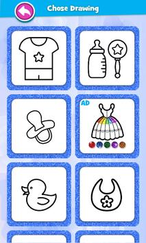 Glitter Baby Accessories Coloring screenshot 8