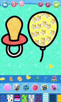 Glitter Baby Accessories Coloring screenshot 3