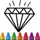 bague diamant coloriage