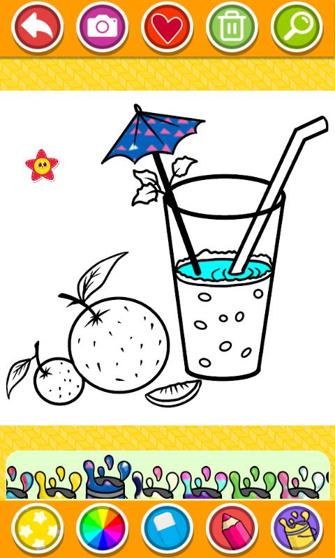 Food Coloring Book - kids Coloring Game für Android - APK ...