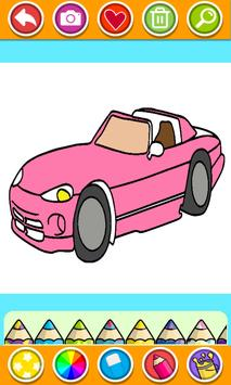 Cars Coloring Book Pages: Kids Coloring Cars screenshot 1