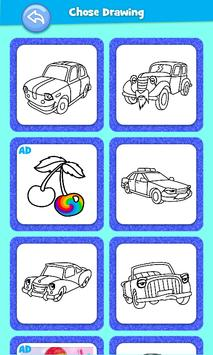 Cars Coloring Book Pages: Kids Coloring Cars screenshot 2