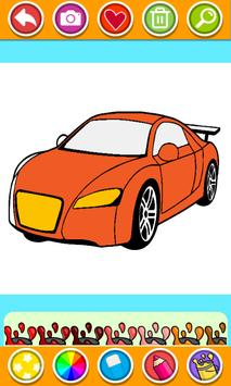 Cars Coloring Book Pages: Kids Coloring Cars screenshot 3