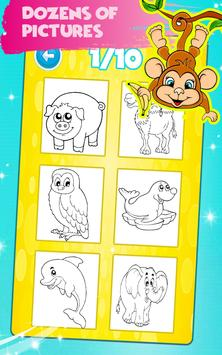 Animals Coloring Book Pages: Kids Coloring Games für Android ...