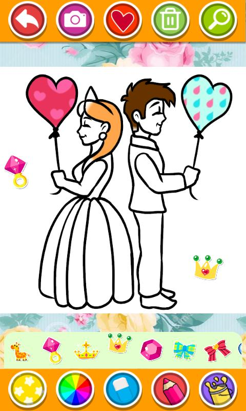 Bride And Groom Wedding Coloring Pages For Android Apk Download