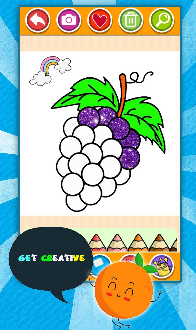Fruits Coloring Game Drawing Book Kids Game For Android