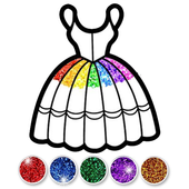 Glitter Dress Coloring