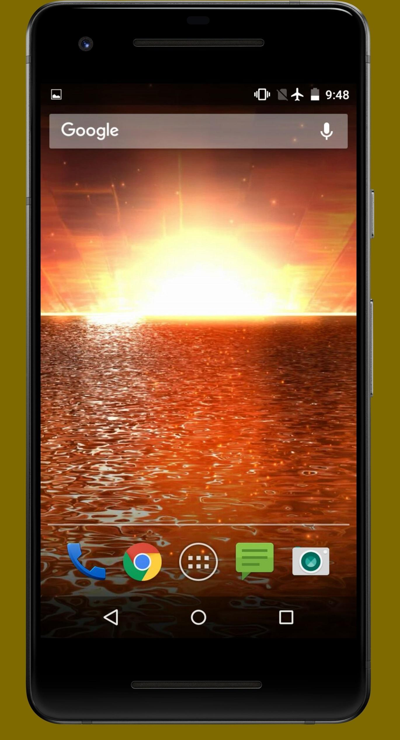 4k Golden Water Sunset Animated Wallpaper For Android Apk