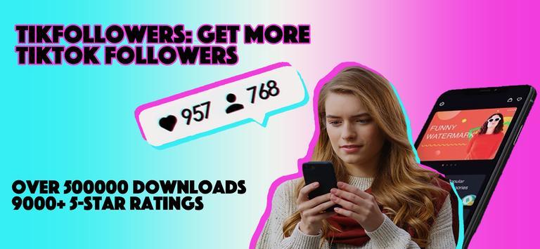 TikFollowers- TikTok get followers, Tik Tok likes plakat