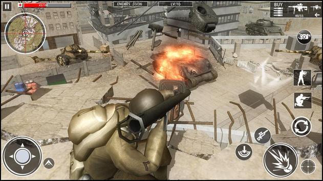 الحرب العالمية الكوماندوز: ألعاب الرماية العسكرية تصوير الشاشة 2