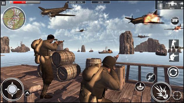 الحرب العالمية الكوماندوز: ألعاب الرماية العسكرية تصوير الشاشة 7