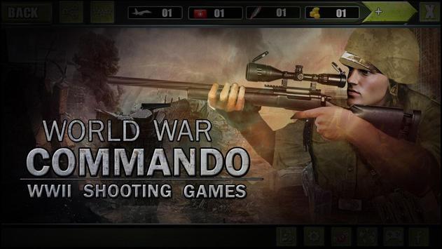 الحرب العالمية الكوماندوز: ألعاب الرماية العسكرية تصوير الشاشة 8
