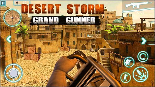 عاصفة الصحراء الكبرى مدفعي لعبة فيس الملصق