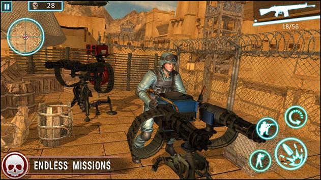 عاصفة الصحراء الكبرى مدفعي لعبة فيس تصوير الشاشة 9