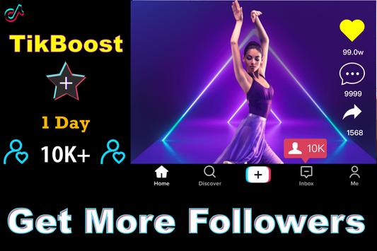 TikBooster for Tiktok followers & fans & like free Affiche