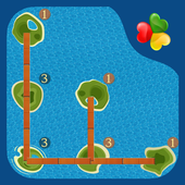 Bridges: Super Number Line Hashi Brain Puzzle icon