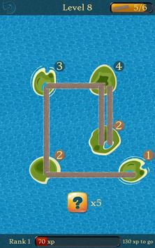 Bridges: Super Number Line Hashi Brain Puzzle screenshot 8