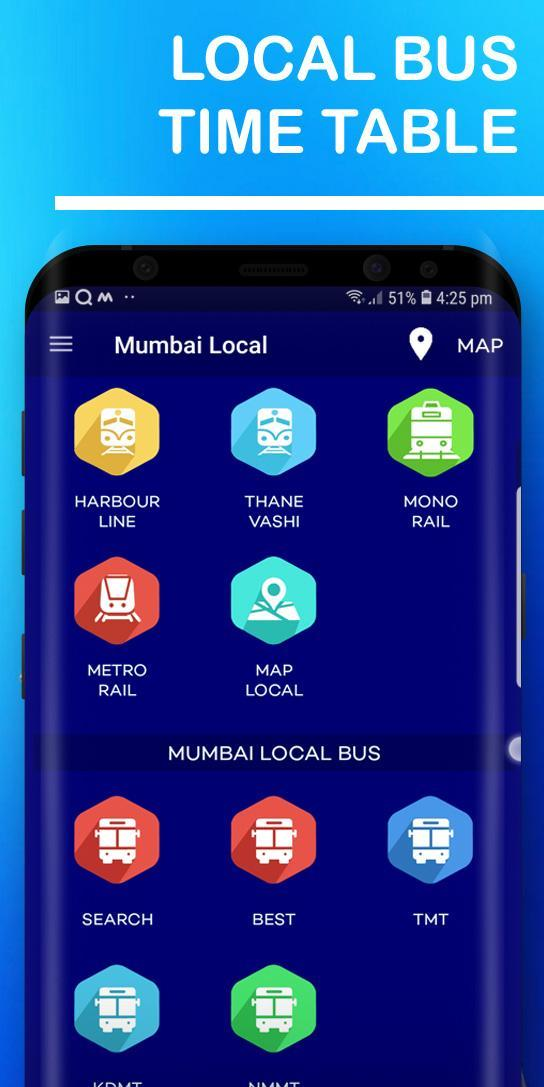 Mumbai Local Train Route Map & Timetable for Android - APK