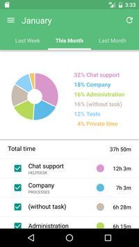 Time Tracking App TimeCamp スクリーンショット 3