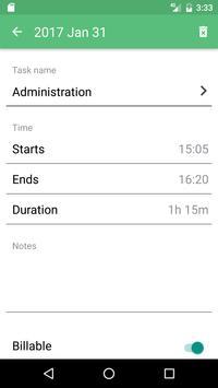 Time Tracking App TimeCamp スクリーンショット 1