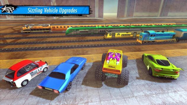 Train vs Car Racing 3D screenshot 3