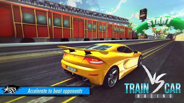 Train vs Car Racing 3D poster