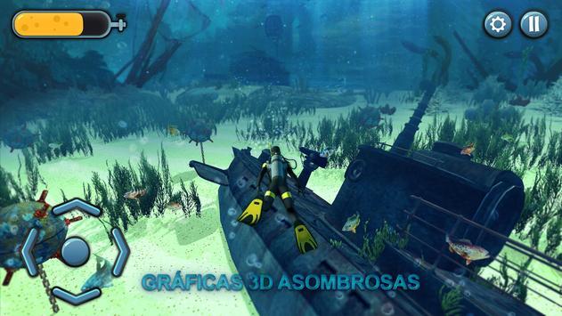 El juego de pesca submarina 3D captura de pantalla 4