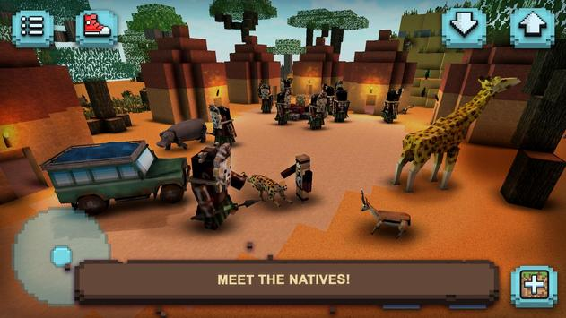 Safari Craft Animais Quadrados imagem de tela 2