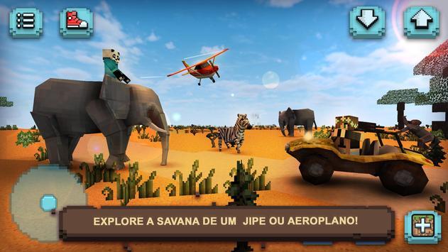 Safari Craft Animais Quadrados Cartaz