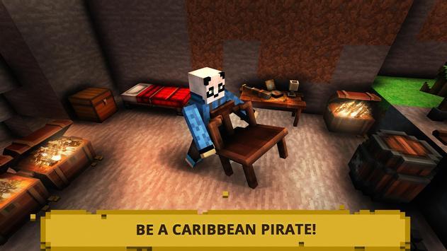 Pirata Craft Tesouro do Caribe imagem de tela 1