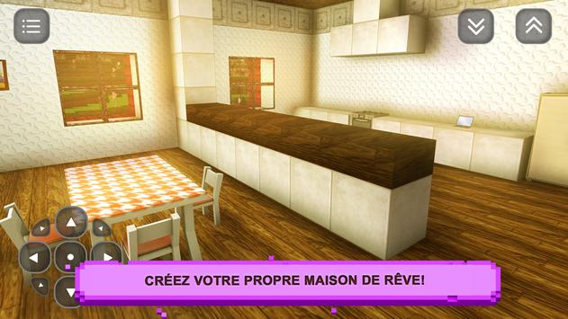Sim Girls Craft: Desig Maison capture d'écran 6