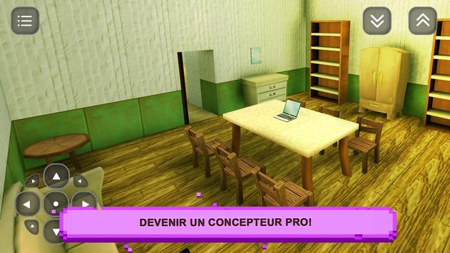 Sim Girls Craft: Desig Maison capture d'écran 1