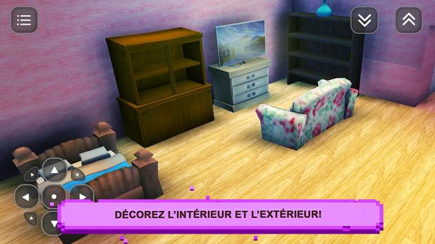 Sim Girls Craft: Desig Maison capture d'écran 2