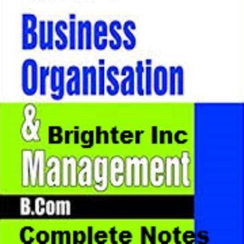 B.Com Business Organisation _ Management poster